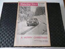 MOTORING NEWS 24 DECEMBER 1970 JOCHEN RINDT, F1 REVIEW, WILL SPARROW RUSTICANA