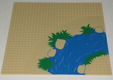 LEGO 32 X 32 DOT TAN BASEPLATE WITH RIVER PLATFORM PLATE PIECE