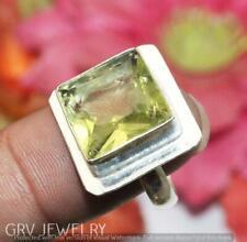"Green Quartz Gemstone Ring 925 Sterling Silver Overlay Us Size 8"" U253-D98"