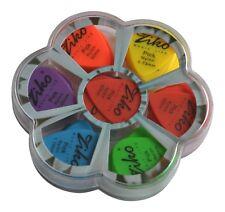 100x Assorted Nylon púas de guitarra púas en caso - 6 medidores