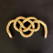 1Pcs JP JDM Kin Rope Kintsuna Chinese Lucky Knot For Car Rearview Mirror Golden