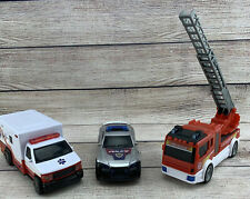 Children Toys Cars Trucks Emergency Vehicles Police Ambulance Fire Engine