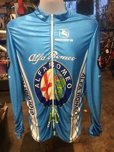 Giordana Alfa Romeo three pocket long sleeve cycling jersey XL full zipper