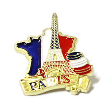 Broche pins n°5 Paris France souvenir Tour Eiffel cadeaux métal drapeau 2,5 x3cm