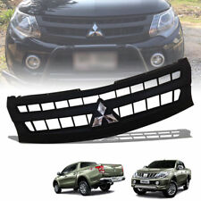 FRONT GRILLE GRILL MATTE MATT BLACK FIT FOR MITSUBISHI TRITON L200 MN ML 2015-18
