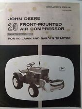 John Deere Garden Tractor #20 Air Compressor Owners Manual 110 112 Round Fender