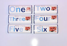 36 Personalised Birthday Chocolate Bar WRAPPERS RK54 1st 2nd 3rd 4th 5th 6th 7th