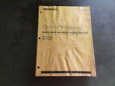 Caterpillar CAT BA22 BA25 BA30 Angling Brooms Owner's Manual  RENR4433-01