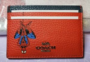 Coach (3597) Marvel Spider-Man Leather Flat Card Holder