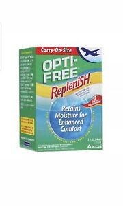 Alcon Opti-Free Replenish Contact Lens Solution Flight Travel 60ml x 6
