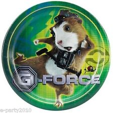 G-FORCE SMALL PAPER PLATES (8) ~ Birthday Party Supplies Cake Dessert Disney