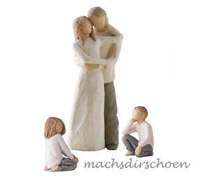 Willow Tree Design Figuren Zweisamkeit Familie Kinder Eltern Vater Mutter NEU