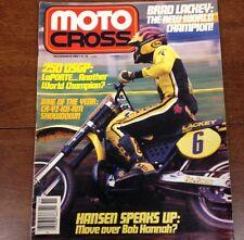 NOVEMBER 1982 VINTAGE MOTOCROSS 125 250 500 USGP BRAD LACKEY HANGTOWN NATS AHRMA