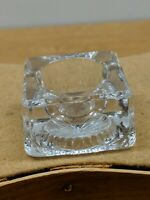 VINTAGE ANTIQUE CLEAR GLASS CRYSTAL SALT DIP CELLAR