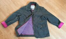 Ladies Green Quilted Jack Wills Light Weight Jacket Size 10