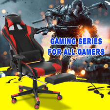 Office Chair Adjustable Armrests High-Back PU Leather Laptop Desk Chair Gaming A