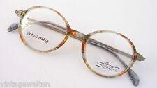 Silhouette ovale runde Markenfassung Gestell Brille Naturtöne Männer Grösse M