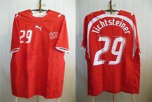 MATCH WORN Switzerland #29 Lichtsteiner 2006/2008 Home Sz XL Swiss shirt jersey