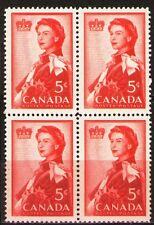 Canada 1959 Sc386 Mi333 1.60 MiEu  1 block  mnh  Queen Elizabeth