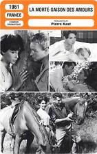 FICHE CINEMA : LA MORTE SAISON DES AMOURS Arnoul,Gélin,Kast 1961 Season For Love