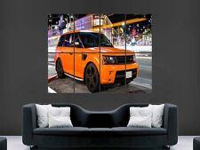 Orange range rover sport giant poster print