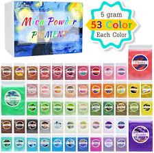 Mica Powder Pure 53 Color - Pearl Epoxy Resin Color Pigment - Cosmetic Grade Sli