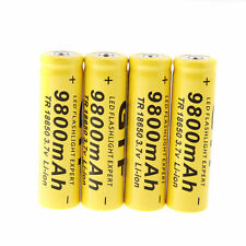 4 × 3.7V GTF 18650 9800mAh Li-ion Rechargeable Battery For LED Flashlight Torch