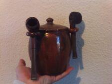 Ancienne Tabatière ancien pot à tabac porte Pipe en céramique terre cuite