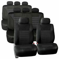 3 Row 8 Seaters Seat Covers For SUV Van 3D Mesh Solid Black Full Set