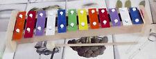 Ancien xylophone multicolore Rainbow apprentissage musique son vintage jeu enfan