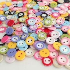 500 Pcs 2 Hole Color Mixed Round Resin Buttons For Sewing/Scrapbook yrk512