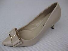 Pierre Dumas Womens Shoes NEW $48 Paris-6 Nude Patent Bow Pump 8 M