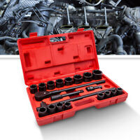 "21pcs 3/4"" 19mm-50mm Drive Deep Impact Socket Set Garage Repair Sockets Ratchets"