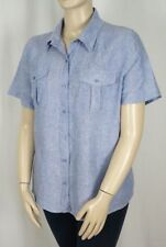 Linen Button Down Shirt Machine Washable Plus Size Tops & Blouses for Women