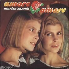 "MARISA SANNIA - Amore amore - VINYL 7"" 45 LP 1984 NEAR MINT COVER VG+ CONDITION"