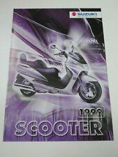 Prospectus Catalogue Brochure Scooters Suzuki Gamme 1999 Suisse