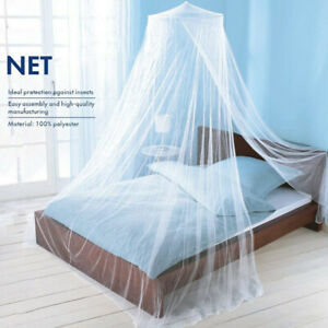 Elegant Mosquito Net Bed Canopy Set White Twin-Full Bed Curtain Tent