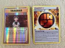 Brock's Grit 74/108 Uncommon Reverse Holo & Strong Energy 104/111 Pokemon Cards