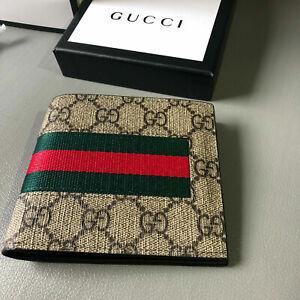 NEW Gucci Men Wallet  Bifold Canvas Wallet
