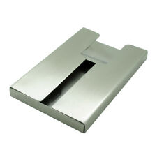 Satin Stainless Steel Slider Business Name Cards Case
