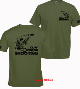 Clay Pigeon Shooting t shirt game birds clay pigeon trap vest trophies  T-SHIRT