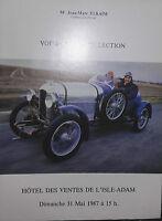 1987 Catalogue Di Vendita Illustre L' L'Isle-adam Voitures Di Collezione