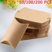 50/100/200Pcs Favor Box Cute Craft Paper Pillow Party Favour Gift Cake Candy Bag