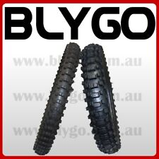 """GL 80/100- 21"""" Front 110/90- 18"""" inch Rear Knobby Tyre Tire + Tube PIT Dirt Bike"""