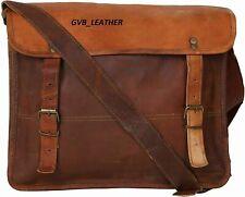 Men Modern Art Genuine Leather Vintage Messenger Shoulder Satchel Crossbody Bag