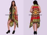 Women Dashiki African Indian Cotton Kimono Coat Summer Beach Top Blouse Cardigan