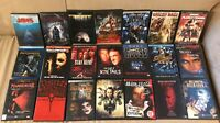 Lot of 21 Horror DVDs Army Darkness, Hellraiser, Jaws, Halloween 5, anchor bay