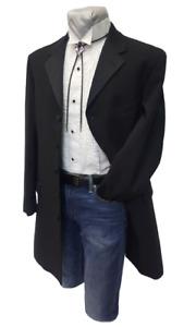 40 R Black Long 4 button Tuxedo Tux Halloween Western Steampunk TUXXMAN