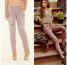 Guess Brittney Ankle Skinny Cutoff Jeans READY Purple 29