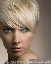 100% HUMAN HAIR FRINGE / BANGS TOP CLIP IN EXTENSIONS HAIR PIECE BLONDE BLACK